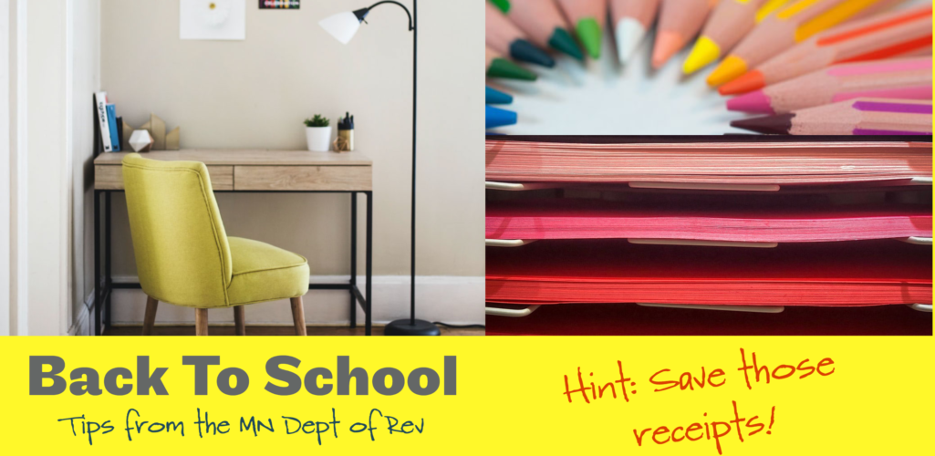 Back-To-School Tax Benefits from MN Dept of Revenue