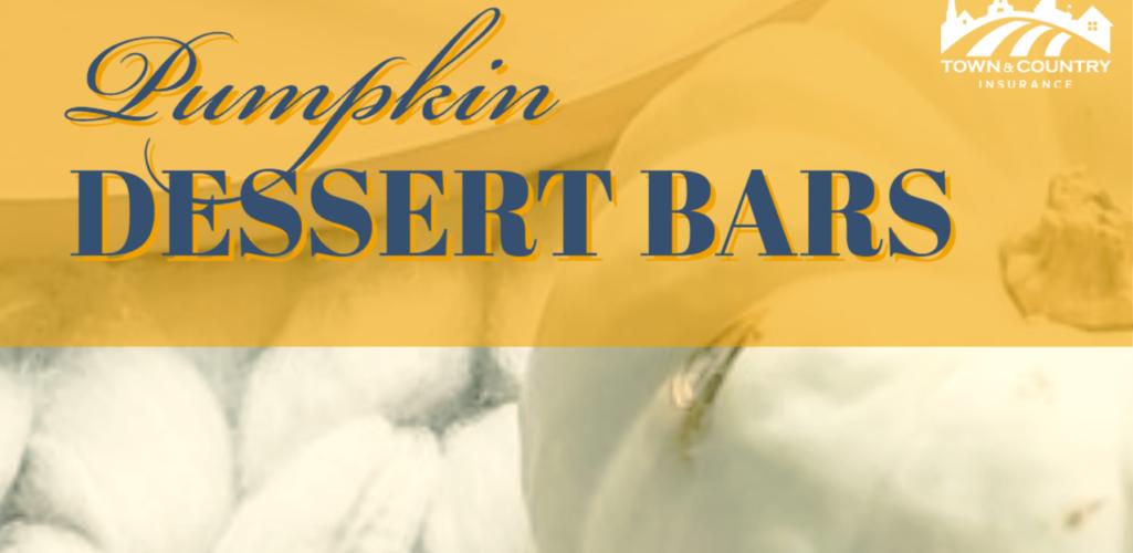 Pumpkin Dessert Bars